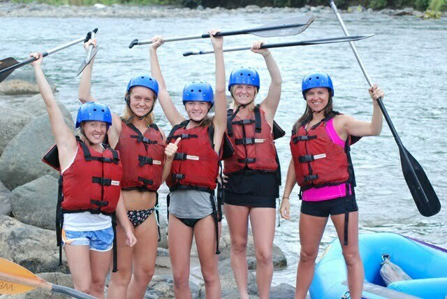 Girls getting ready to do Rafting